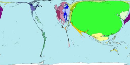 Рис.5 Карта мира по количеству атеистов