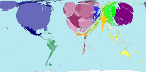 Рис.2 Карта мира по уровню ВВП