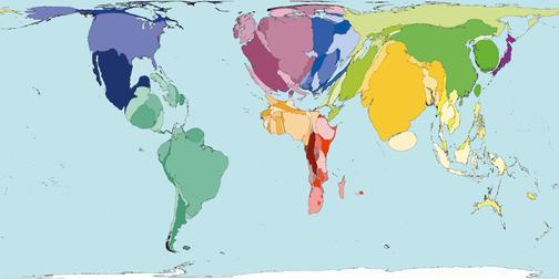 Рис.12 Карта мира по количеству смертей от алкоголя
