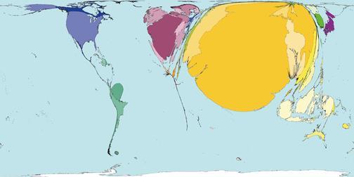 Рис.11 Карта мира по количеству смертей от депрессии