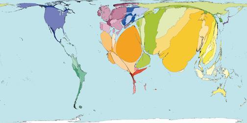 Рис.10 Карта мира по количеству смертей от наркотиков