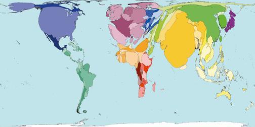 Рис.9 Карта мира по количеству смертей от психических растройств