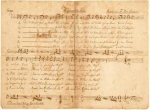 Нотная рукопись Дж. Мора, 1822 г.